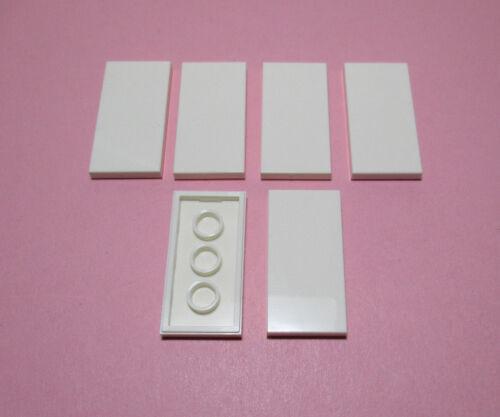 LEGO City Basic  Fliesen 2 x 4  Weiss 6 Stück   # 87079  Neu