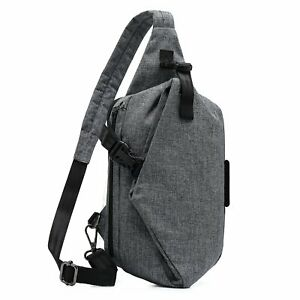 Mens Shoulder Chest Bag Nylon Zipper Crossbody Bag Sling Backpack Casual Bag