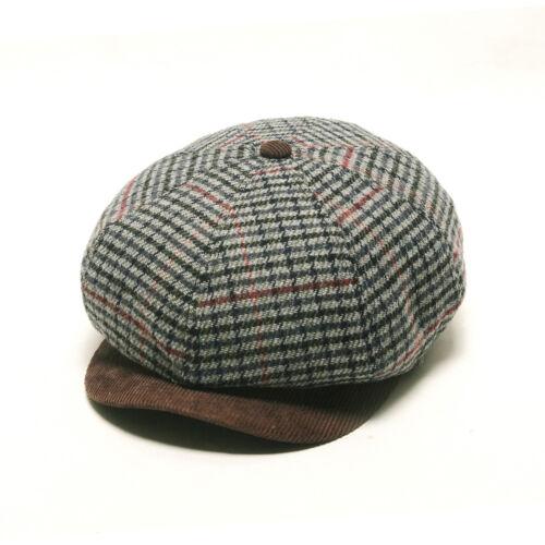1 of 10FREE Shipping Unisex Mens Glen Check Corduroy Flat Cap Newsboy  Cabbie Gatsby Driver Hats Gray a8dd69e84f67
