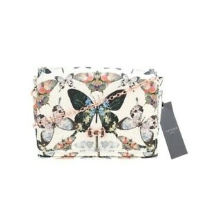 Ted-Baker-With-Tags-Strisa-Butterfly-Evening-Bag-Clutch-Crossbody-Chain-Strap