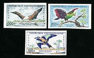 Central-Africa-Stamps-C1-3-XF-Imperf-OG-NH