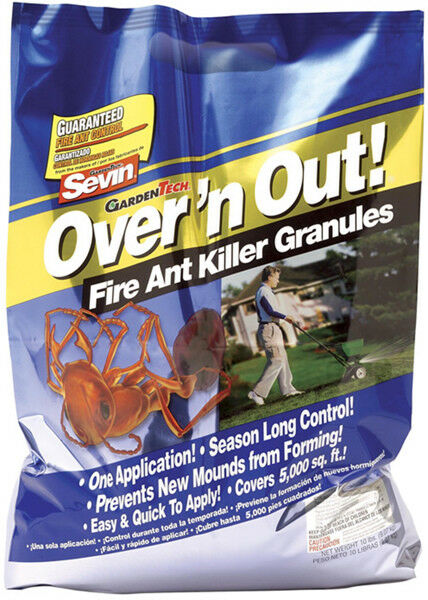 Gardentech Sevin Over N Out Advanced Fire Ant Granules 10 Lb Kills Queen