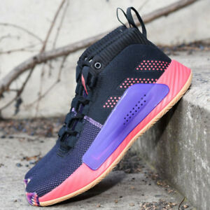 online store 24c11 e1403 Image is loading Adidas-Dame-5-Black-Red-Purple-BB9313-Damian-