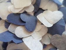 1500 azul marino y crema tejido Corazones/Boda Confeti/Celebración/Fiesta/Decoración