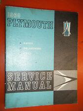1960 PLYMOUTH PLAZA SAVOY BELVEDERE ORIGINAL FACTORY SERVICE MANUAL VINTAGE