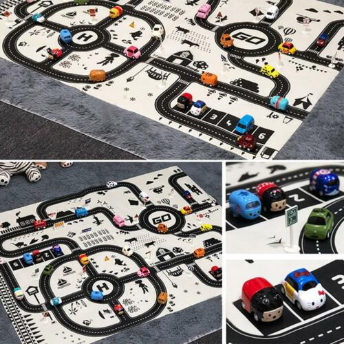 Kid Car Road Carpet City Road Play Mat Childrens Rug Toy Gift Playmat Waterproof