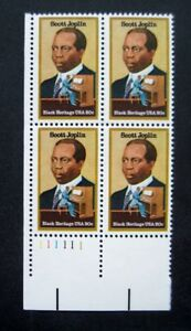 Sc-2044-Plate-Block-20-cent-Scott-Joplin-Issue-cg16