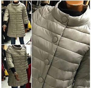 sneakers for cheap b5ece 186ee Dettagli su Donna Piumino lungo Cappotto Cappotti Trench parka outwear coat  Jacket mod.HERNO