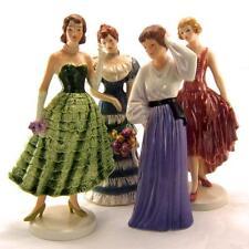 Goebel WOMAN'S CLUB Centennial FIGURINES 1890,1915, 1940 & 1965 Complete Set 4
