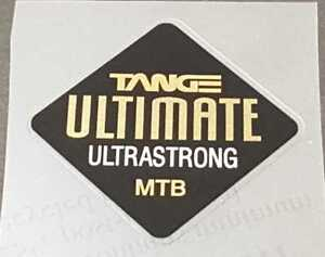 Tange Ultimate Ultrastrong MTB Tubing Decal - Mirror Gold on Black (sku Tang832)