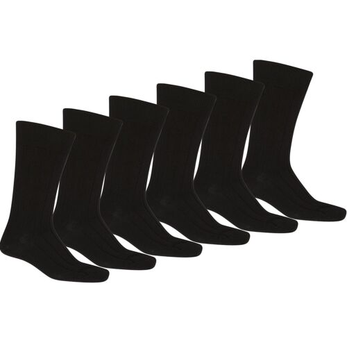 Mechaly Men 60 Pack Solid Plain Dress Socks in Black Bulk Wholesale