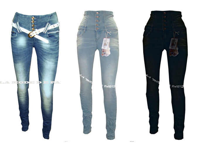 D11 NEW WOMENS HIGH WAISTED SKINNY JEANS LADIES JEAN DENIM TROUSERS PANTS.06-14