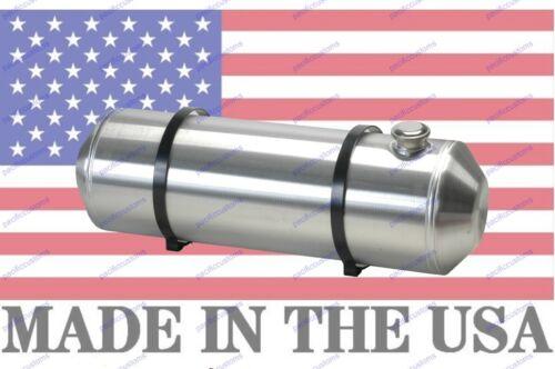 10X36 Spun Aluminum Gas Tank 12 Gallons W// Sender Flange 3//8 NPT Top Return