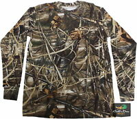 Drake Waterfowl Ls Long Sleeve Layering Tee T-shirt Max 4 Camo Small S