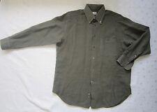 Armani Collezioni Button Down Linen Dress Shirt -Dark Olive Green- Size 16.5/42R