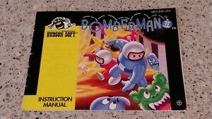Bomberman-II-2-ii-Nintendo-NES-Video-Game-Instruction-Manual-Book-Booklet-Lot