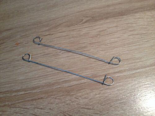 100x Double Loop Metal Wire Cable Tie MULTI USE Steel Twist Rebar//Garden