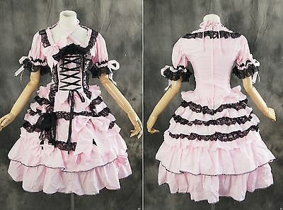 M-3107 Maß rosa lila pink Gothic sweet Lolita Cosplay Kleid dress costume dress