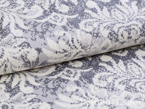 gris! 0,5,m algodón satén sustancia vintage con puntas de barroco patrón