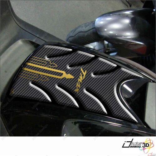 KIT ADESIVI RESINA 3D T MAX TMAX 2008-2011 MOTO CARENE SERBATOIO CARBON ORO 500