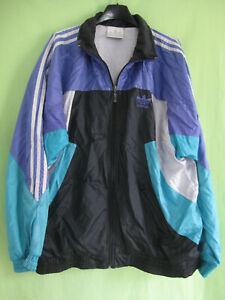Détails sur Veste Adidas Toile 90'S Nylon Polyamide Vintage Noir Jacket Retro 186 XL