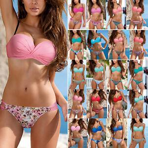 073c2d22249d Detalles de Nuevo Mujer Push Up Set de Bikini Vendaje Bañador Traje de Baño  Playa Bañador