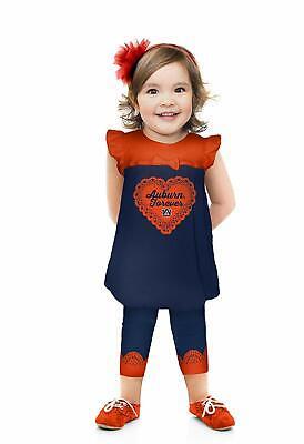 Cheekie Peach Toddler Girls Ruffle Sleeve and Leggings Set