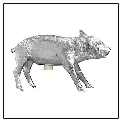 Areaware Pig Bank -- Silver or Gold Chrome -- cast from a real pig!