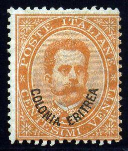 Eritrea, Italian Colony. 1892. 20c. Orange. SC# 5. Mint. tiny tear. SCV $375