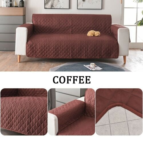 Protector Quilted Slipcover Sofa Cover Cushion Pet Couch 1 2 3 Seater For Dogs