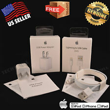Original Lightning cable 1m+Power Adapter Charger for Apple iPhone 5 5S 6 6+ 7