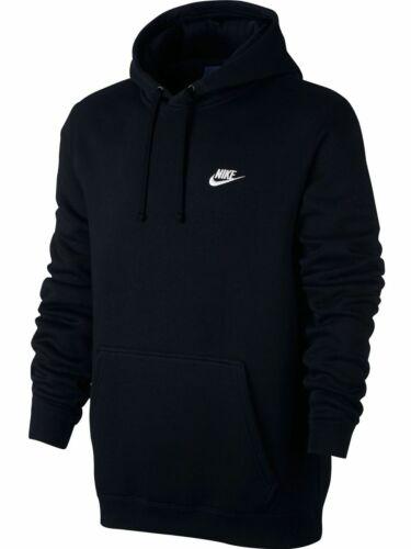 Nike Sportswear Pullover Fleece Mens Hoodie Black Multi Size Casual Top