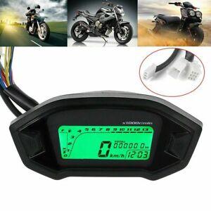 Universale-LCD-Digitale-Moto-Contachilometri-Tachimetro-Contagiri-Controluce-12V