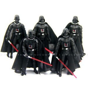 Lot-5PCS-Star-Wars-2005-Darth-Vader-3-75-034-Collect-Action-Figure-amp-Lightsaber-Toy