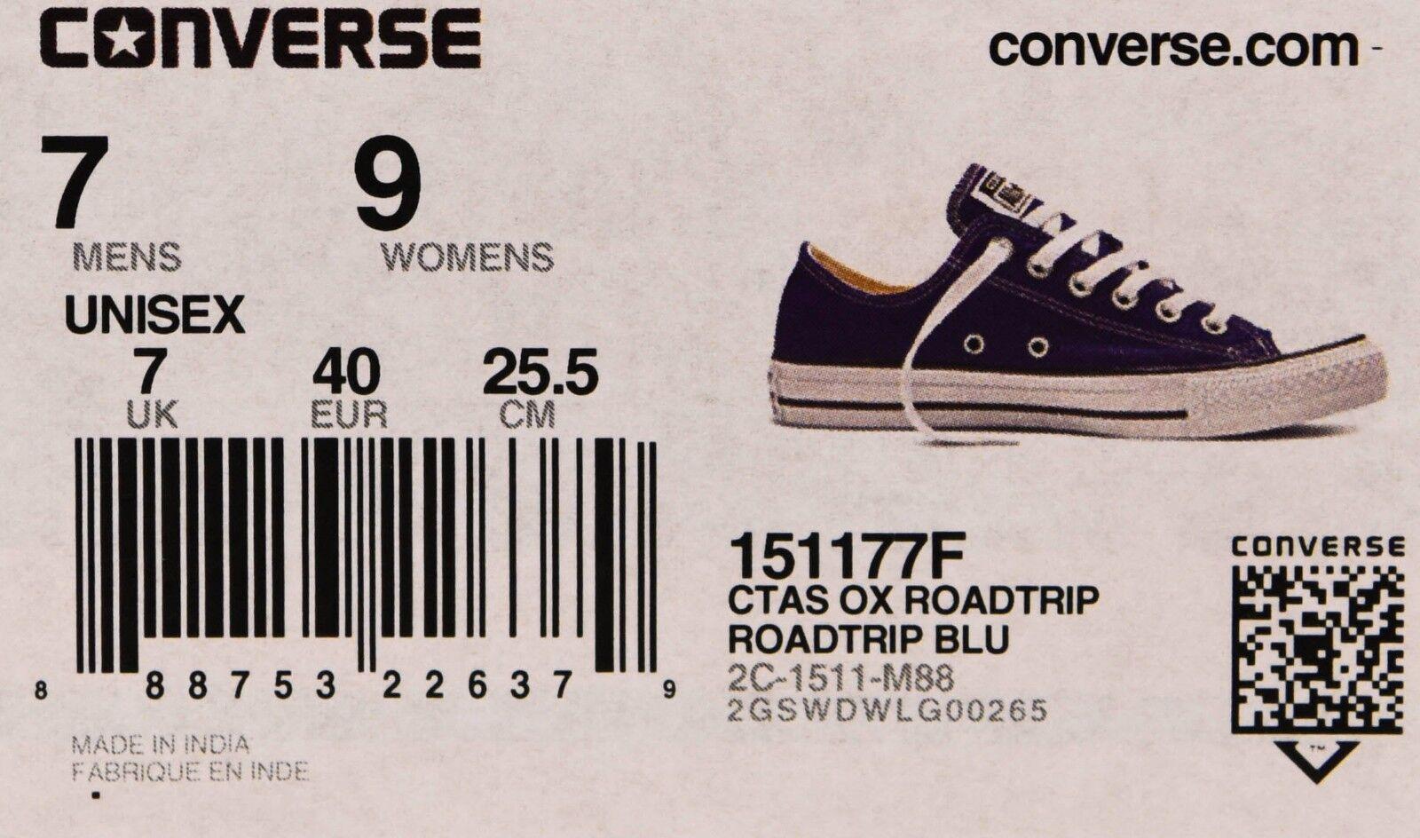 a576c2b7b25ab9 Converse Men Chuck Taylor All Star Ox Low Roadtrip Blue White Trainers  151177f 7