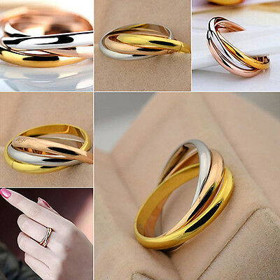 Women's Ring Golden Silver Tone Stainless Steel 3 Different Colours Slim Nice