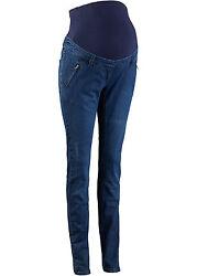 Damen Umstandshose Jeans Bauchband Hose regulierbar Schwarz 605 Blau 019 neu