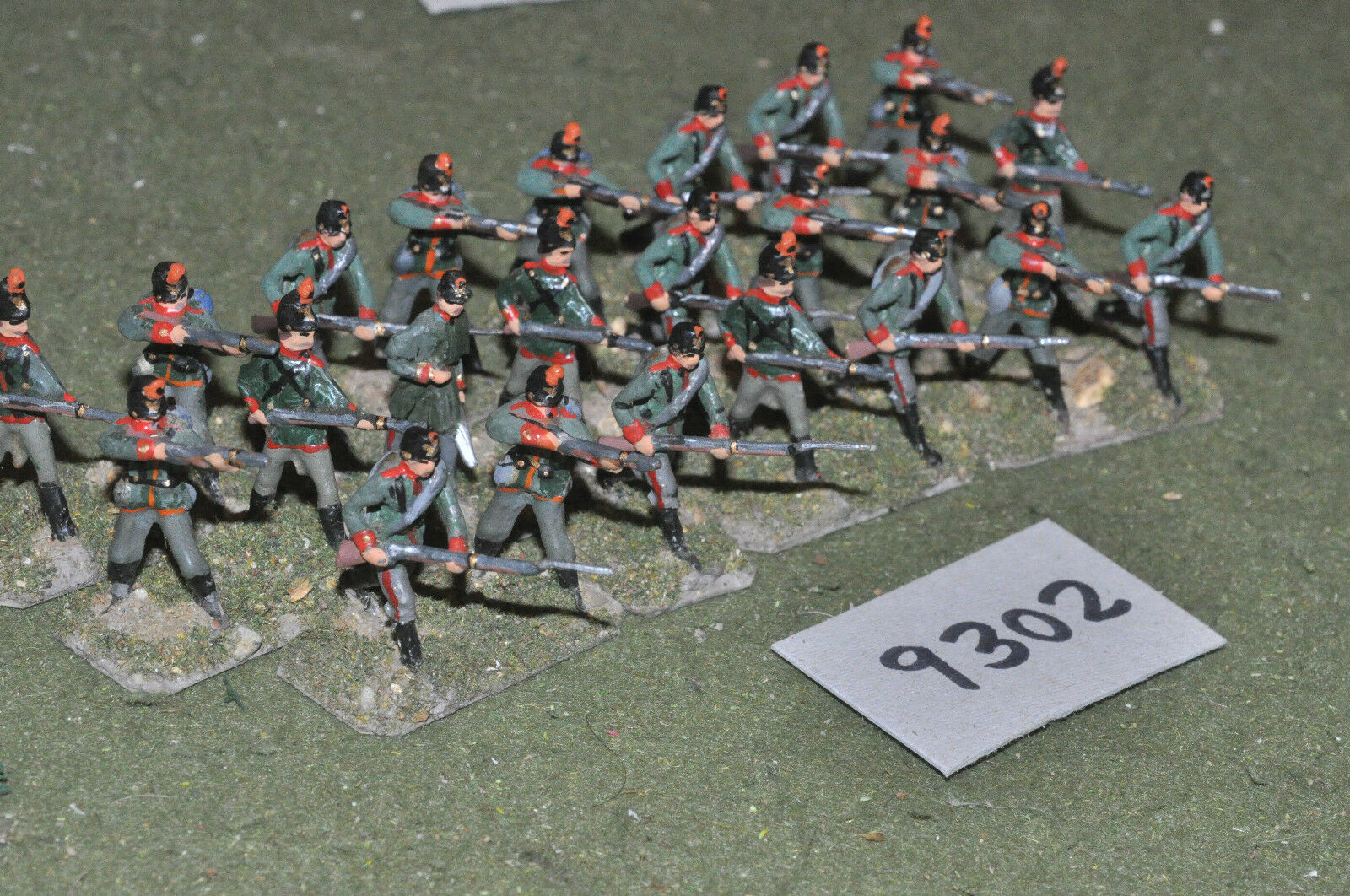 25mm 19th century   franco prussian -  infantry 23 figs metal - inf (9302)