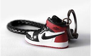 Details about 3D MINI AIR JORDAN 1 - Original Red, White & Black - Michael Jordan #23