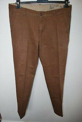 Bello Timberland In Tela Marrone Pantaloni Abbigliamento Da Lavoro W 34 L 33-mostra Il Titolo Originale