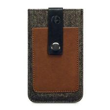Berkeley Hopsack Brown Tweed & Leather Pouch Sleeve Case for iPhone 5/5S/SE