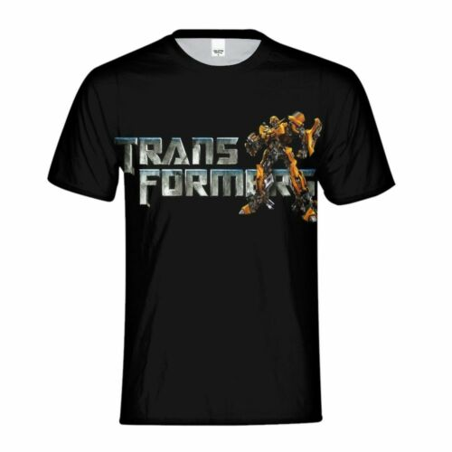 Transformers Bumblebee Comics Kids Boys Short Sleeve T-Shirt Crew Neck Tee Shirt