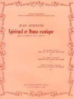 Partition Pour Saxophone - Jean Avignon - Spiritual Et Danse Exotique