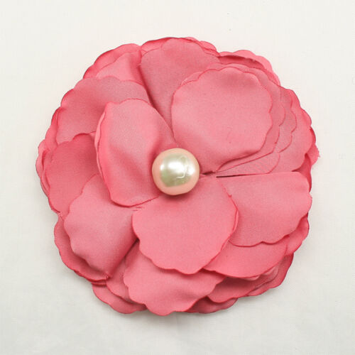 Flower Appliques Millinery Trim Brooch Corsage bow craft Hair Accessories Hat 03
