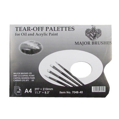 297x210mm For Arts /& Craft Tear-Off Palettes for Oil and Acrylic A4 40 Sheets