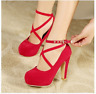 New Women  Spring Summer Autumn Platform Suede Shoes  High Heels Pumps
