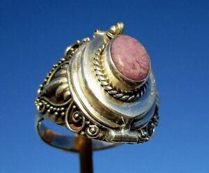 Sugilith-Gift-Ring-Box-zum-Offnen-Gr-18-5-Silber-925