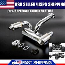 Side Exhaust Pipe Set For 1 5 Hpi Baja 5b 5t 5sc For Sale Online Ebay