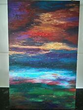 GOLD CLOUD. Original landscape painting. Oil on board.