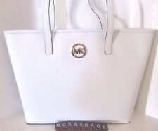 274fd785bef6 ... sweden item 1 michael kors jet set medium travel tote saffiano optic  white leather nwt 298